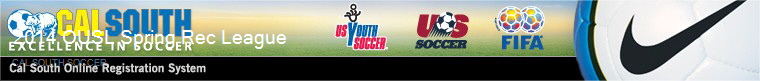 Cal South Soccer banner
